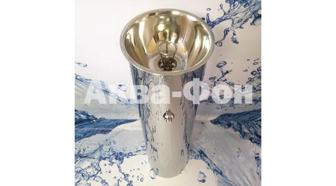Фонтанчик питьевой кнопочный ФПН-2К (0,5мм) нержавеющая �...